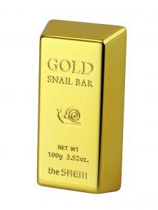 """""""СМ"""" Gold Snail Bar Мыло для умывания с экстрактом золота, муцина улитки, оливы  100 гр"""