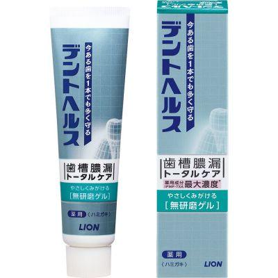 Lion Dent Health Smooth Gel Гелевая зубная паста для профилактики парадонтоза, кровоточивости десен, неприятного запаха изо рта и повышенной чувствительности зубов 85 гр