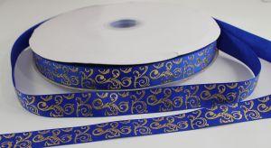 `Лента репсовая с рисунком, ширина 22 мм цвет: синий, Арт. Р-ЛР5655-14