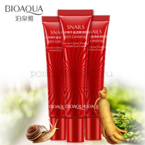 Антивозрастной крем для кожи вокруг глаз BioAqua Snails Red Ginseng