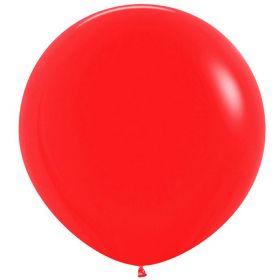 """Шар, красный, пастель, 24""""/ 60 см, Колумбия"""