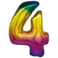 """Фигура """"4"""", 34""""/ 86 см, радуга"""