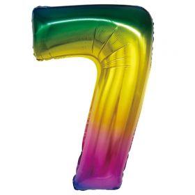 """Фигура """"7"""", 34""""/ 86 см, радуга"""