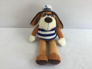 Мягкая игрушка Собака в тельняшке, 15см