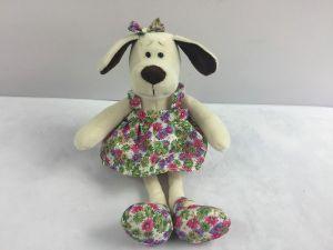 Собака в платье с цветами (16см)