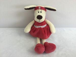 Собака в платье с повязкой (16 см)