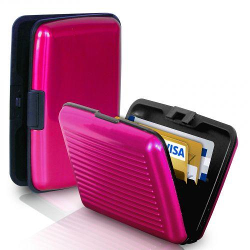 Кейс для кредитных карт Security Credit Card Wallet (цвет розовый)