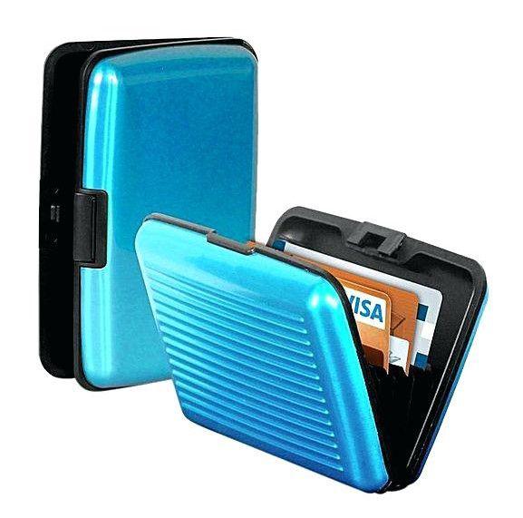 Кейс для кредитных карт Security Credit Card Wallet (цвет голубой)