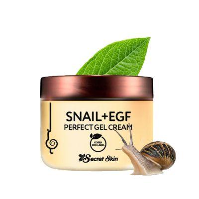 Крем-гель для лица с экстрактом улитки SECRETSKIN SNAIL+EGF PERFECT GEL CREAM 50гр