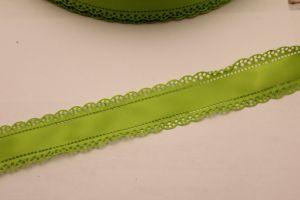 """`Лента атласная """"вырубка"""", ширина 30 мм , цвет: зеленый"""