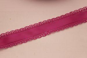 """Лента атласная """"вырубка"""", ширина 30 мм , длина 10 метров, цвет: фиолетовый"""