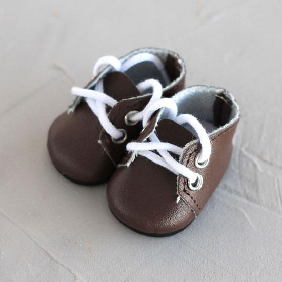 Обувь для кукол - ботиночки 5 см (темно-коричневые)