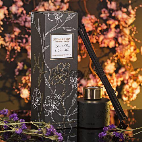 Диффузор Чёрный инжир и Ваниль StoneGlow Ночные цветы