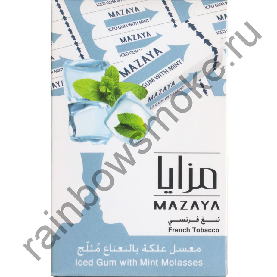 Mazaya 50 гр - Ice Gum Mint (Мятная Жвачка со Льдом)