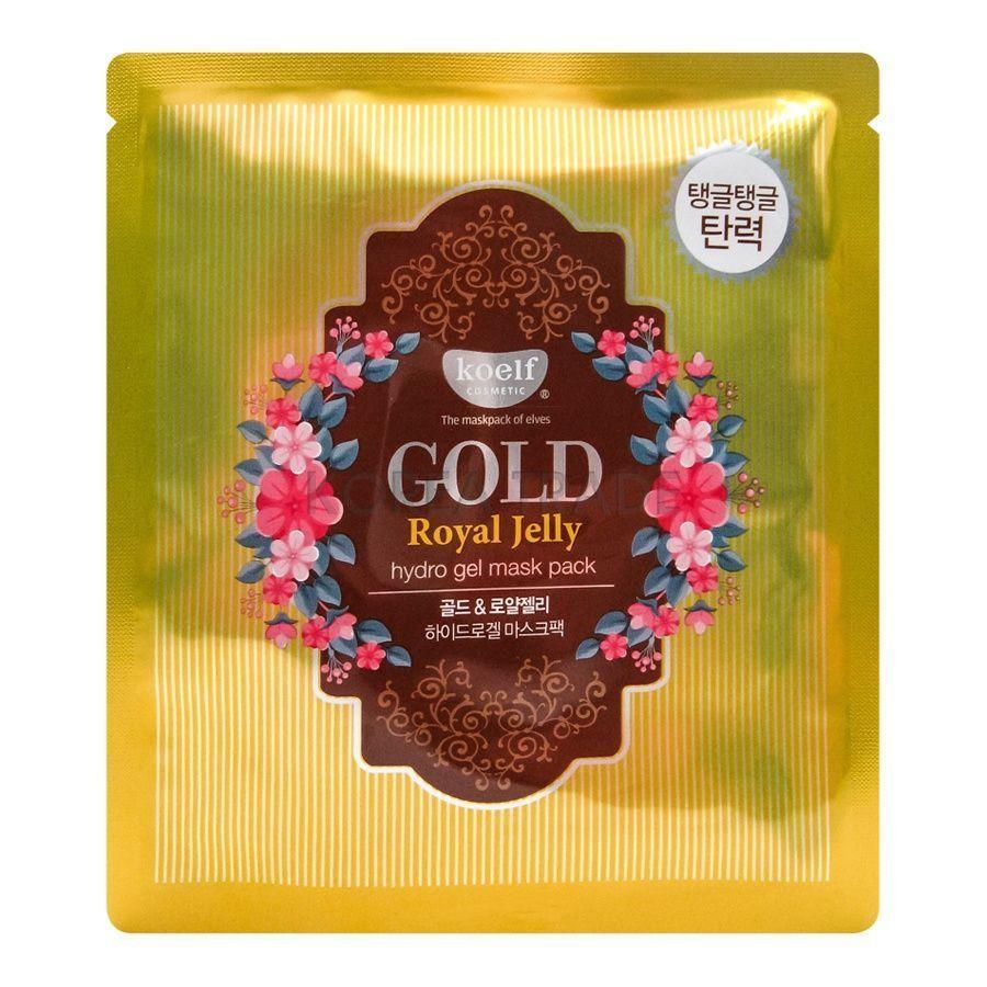 [KOELF] Маска для лица гидрогель с золотом и маточным молочком GOLD & ROYAL JELLY MASK, 30 гр