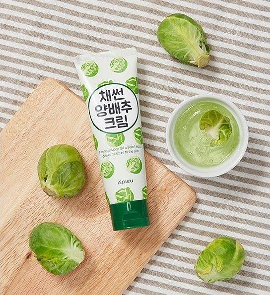 Крем-гель для лица капустный A'pieu shredded cabbage cream 80гр