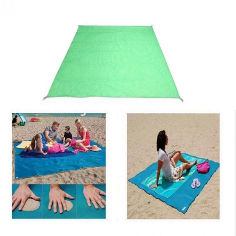 Пляжный Коврик Антипесок 200х150См Цвет Зеленый