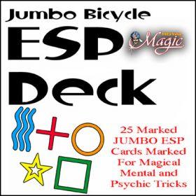 Краплёные карты Jumbo Marked ESP Decks (Bicycle)