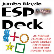 Краплёные карты Jumbo Marked ESP Decks (Bicycle)