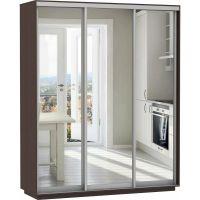 Шкаф-купе Зеркальный 3х дверный (разная ширина,высота,глубина)