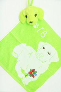 Полотенце детское хлопковое с рисунком (35*35) арт.  203521
