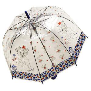 Зонт Собака синий