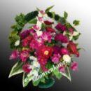 Ритуальная корзина из искусственных цветов N4, РАЗМЕР 60см,80см,90см