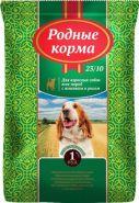 РОДНЫЕ КОРМА сухой корм для взрослых собак ягненок и рис, (16.38 кг)
