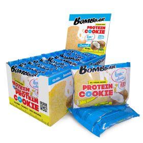 Низкокалорийное протеиновое печенье от Bombbar КОКОС 40 гр