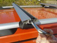 Багажник на рейлинги Peugeot Partner 2008-..., Lux Классик, крыловидные дуги