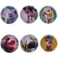 """Магнит """"Свинка"""", D 3,5см, 6 видов (арт. 723290)"""