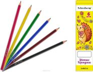Набор цветных карандашей 6 цв. (арт. S 0015-6)