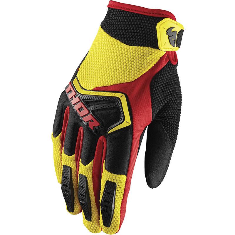 Thor - Spectrum Yellow/Black перчатки, желто-черные