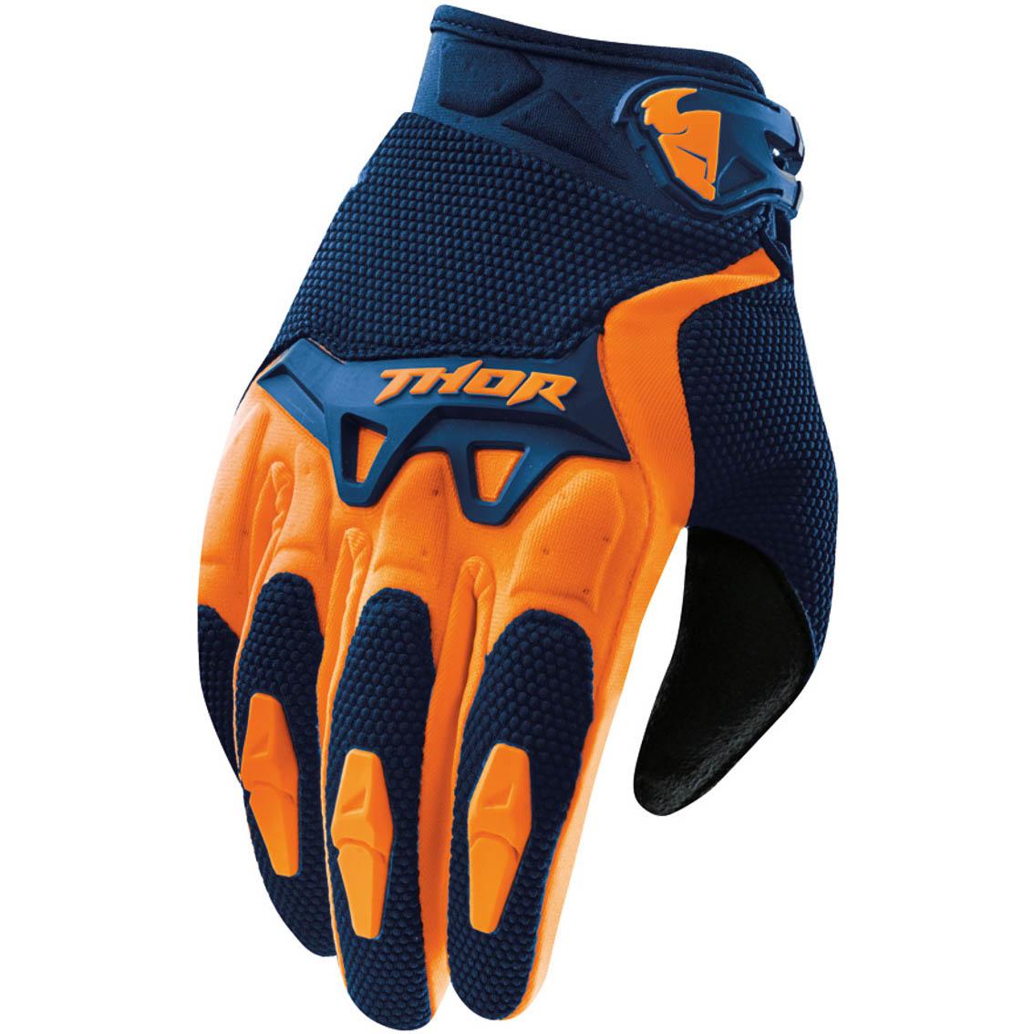 Thor - Spectrum Navy/Orange перчатки, сине-оранжевые