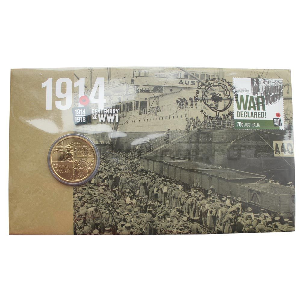 1 доллар 2014 Австралия 100 лет со дня начала первой мировой войны (В буклете)