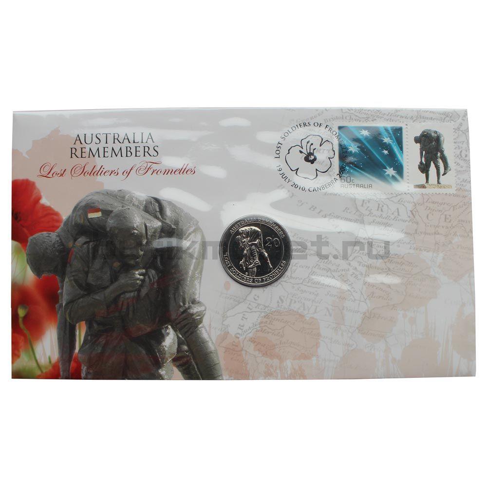 20 центов 2010 Австралия Павшие бойцы в битве при Фромеле (В буклете)