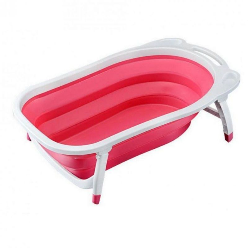 Детская Складная Ванна Folding Baby Bathtub, Цвет Розовый