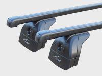 Багажник на крышу Ford Explorer V 2017-..., Lux, стальные прямоугольные дуги на интегрированные рейлинги