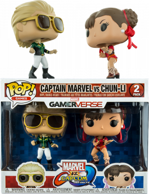 Фигурка Funko POP! Vinyl 2-Pack: Capcom vs. Marvel: Captain Marvel vs Chun-Li (Exc) 23978