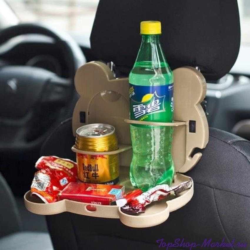 Детский столик для подголовника автомобиля CARTOON CAR TRAY TABLE, Рисунок: Котик