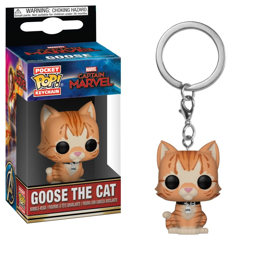 Брелок Funko POP! Keychain: Marvel: Captain Marvel: Goose the Cat 36440-PDQ