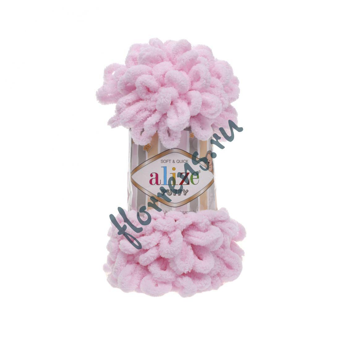 Пряжа Alize Puffy / 31 детский розовый