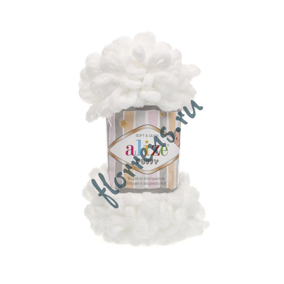 Пряжа Alize Puffy / 55 белый