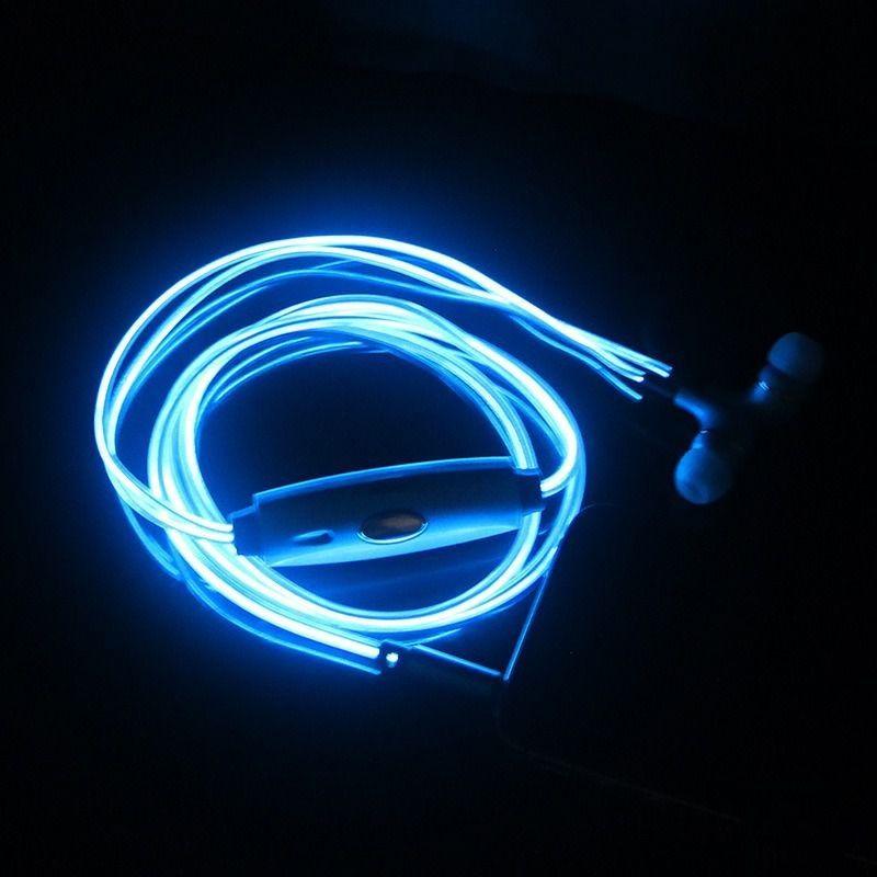 Светящиеся наушники с EL-проводом, белый