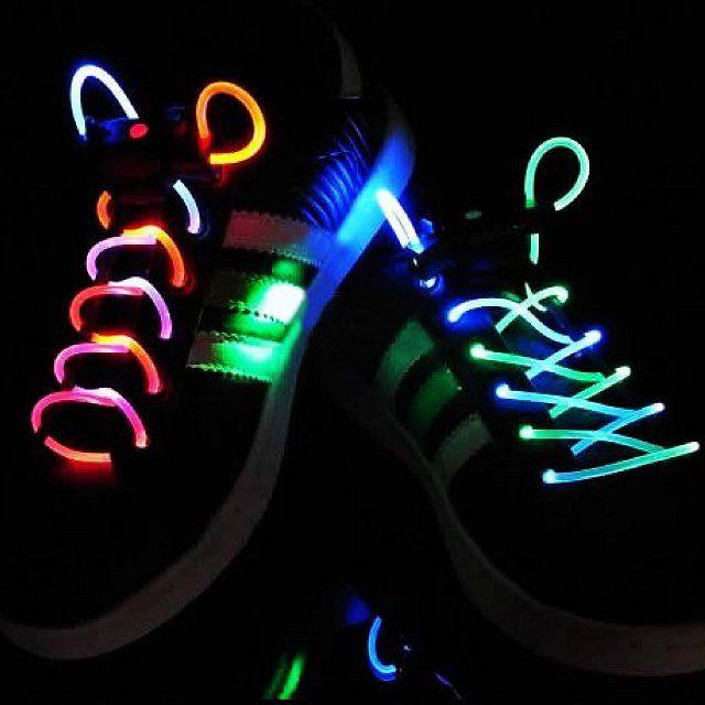 Шнурки с LED подсветкой, цвет разноцветный