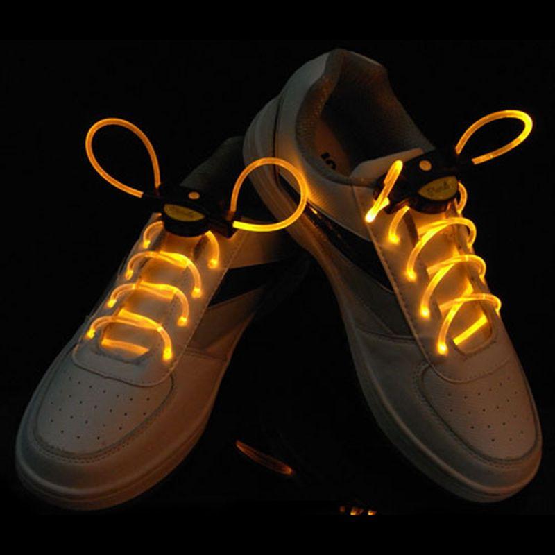 Шнурки с LED подсветкой, цвет желтый