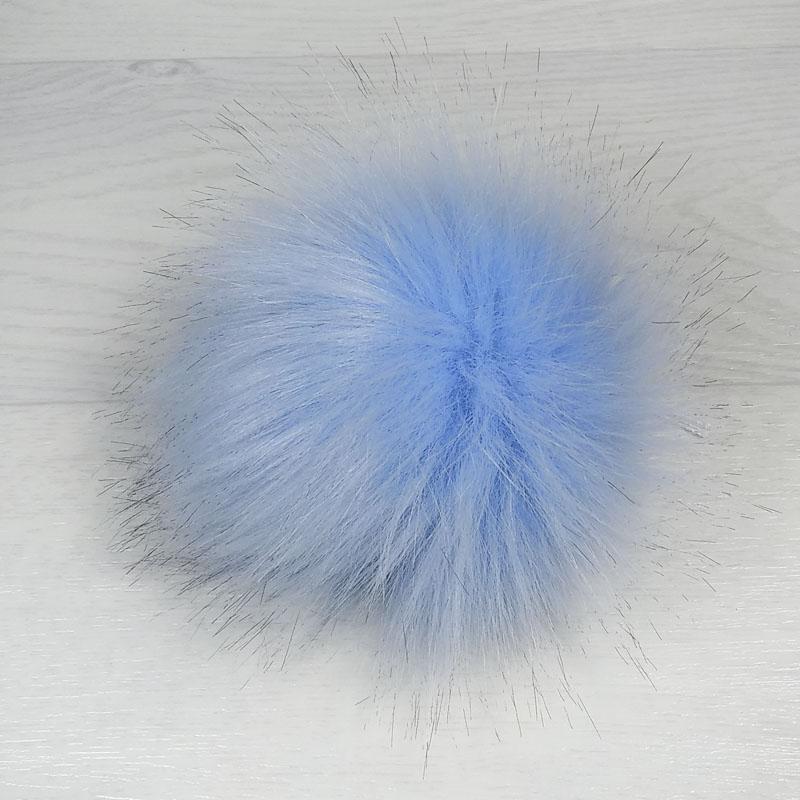 пом1000-72 Помпон из искуственного меха нежно-голубой