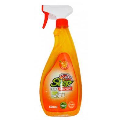 Универсальное жидкое чистящее средство для дома с апельсиновым маслом KMPC ORANGE STEP Multi-Purpose Cleaner, 600ml