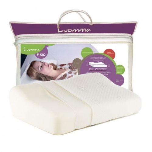 Ортопедическая подушка Luomma F-502 (12 см) с эффектом памяти (анатомическая).