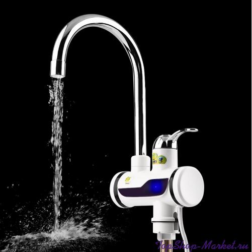 Проточный электрический водонагреватель INSTANT ELECTRIC HEATING WATER FAUCET, Цвет: Белый